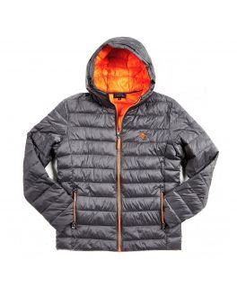 Grey & Orange Lightweight Padded Jacket