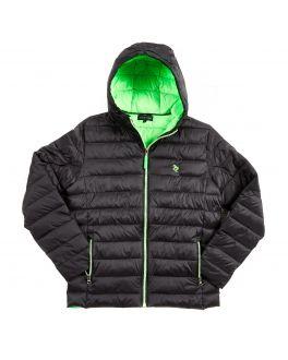 Black & Lime Lightweight Padded Jacket