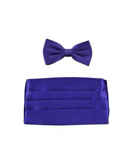 Double TWO Purple Cummerbund Set