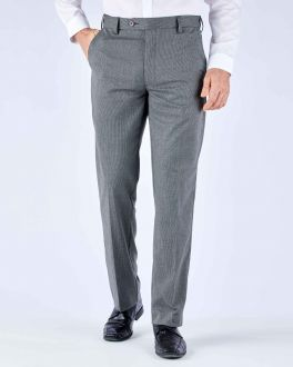 Graphite Puppytooth Stretch Formal Trousers