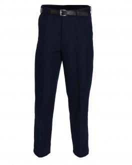 Navy Polyester Flexi-Waist Trousers