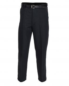 Grey Polyester Flexi-Waist Trousers