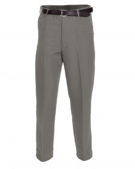 Taupe Polyester Flexi-Waist Trousers