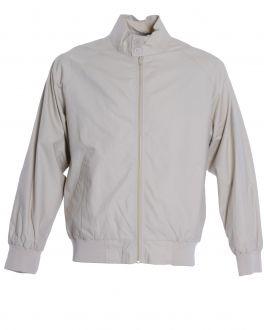 Beige Harrington Casual Jacket
