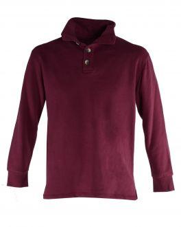 Burgundy Suede Finish Fleece