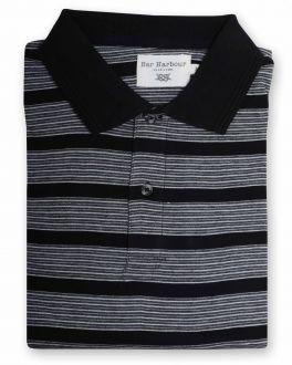Charcoal Stripe Polo Shirt