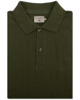 Green Knot Cotton Polo Shirt