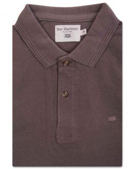 Brown Knot Cotton Polo Shirt
