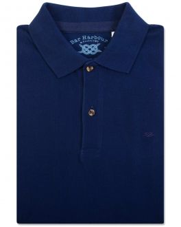 Navy Knot Cotton Polo Shirt