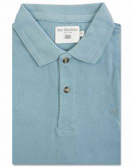 Aqua Knot Cotton Polo Shirt
