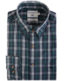 Green Multi Check Casual Shirt