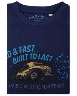 Bar Harbour Mulberry Custom Motorcycles Print T-Shirt