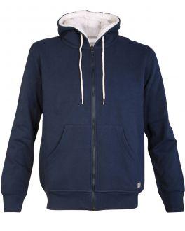 Navy Fleece Lined Zip Hoodie