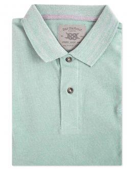 Aqua Pique Polo Shirt