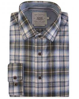 Sage Woodland Check Casual Shirt
