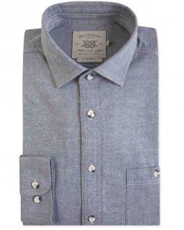 Light Blue Chambray Casual Shirt