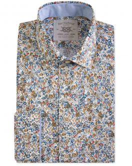 Autumn Floral Print Casual Shirt