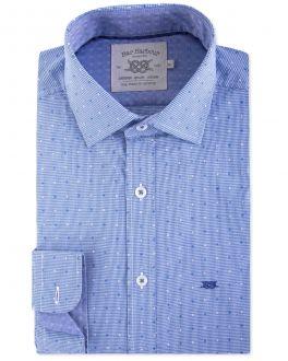 Blue Gingham Dot Casual Shirt
