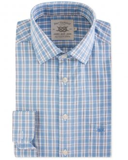 Blue Classic Check Casual Shirt