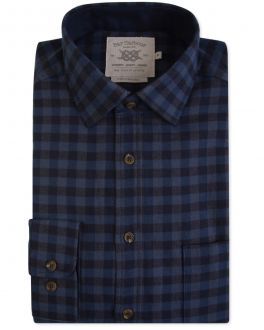 Blue and Black Check Casual Shirt