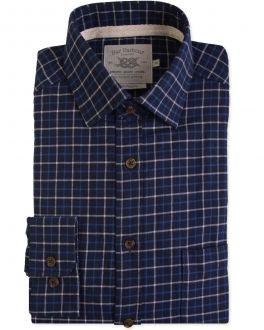 Blue Triple Check Casual Shirt