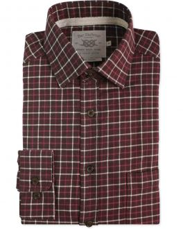 Red Triple Check Casual Shirt