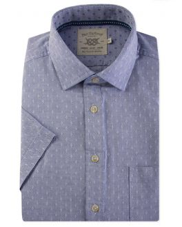 Blue Diamond Dobby Short Sleeve Casual Shirt