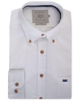 White Long Sleeve Casual Shirt