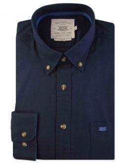 Navy Long Sleeve Casual Shirt