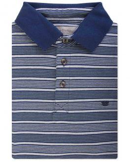 Navy Thin Stripe Polo Shirt