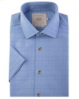 Blue Soft Touch Short Sleeve Casual Shirt