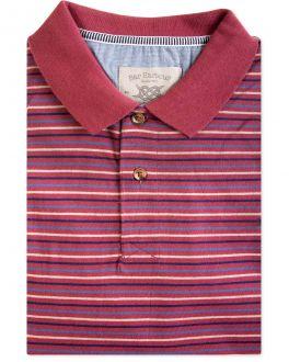 Red Coloured Stripe Polo Shirt