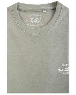 Men's Green Bar Harbour Print T-Shirt