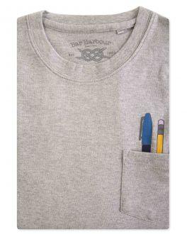Men's Grey Pen Pocket Print T-Shirt