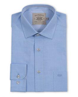 Light Blue Dobby Long Sleeve Casual Shirt