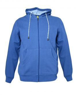 Classic Blue Long Sleeve Zip Up Hoodie