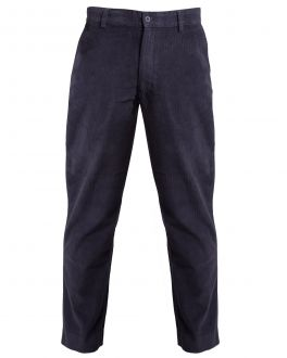 Bar Harbour Charcoal Corduroy Trousers Front