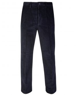 Navy Cord Trousers Front