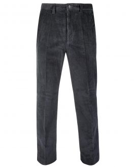 Grey Cord Trousers Front