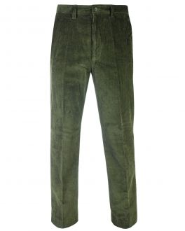 Green Cord Trousers Front
