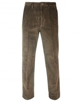 Taupe Cord Trousers Front