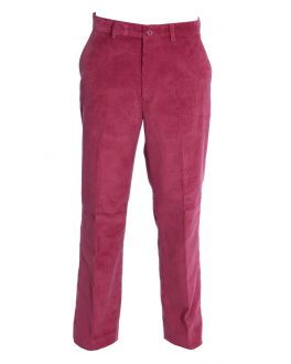 Men's Red Cord Trousers Front