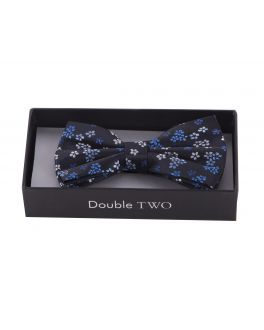 Blue Floral Boxed Bow Tie
