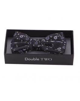 Monochrome Floral Boxed Bow Tie