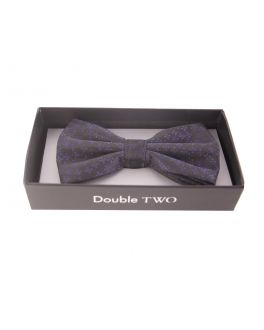 Double TWO Red Patterned Bow Tie