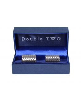 Silver Rectangle Cuff Links