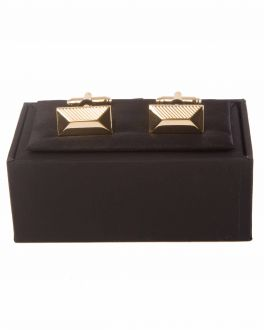Double TWO Gold Patterned Cuff Links