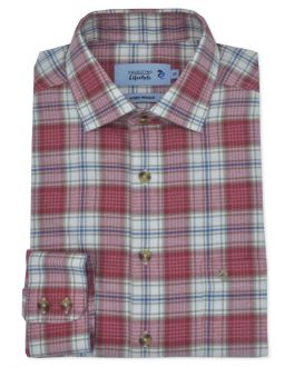 Red Check Long Sleeve Casual Shirt