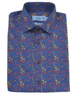 Denim Printed Long Sleeve Casual Shirt