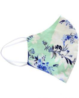 Mint Floral Cotton Face Mask